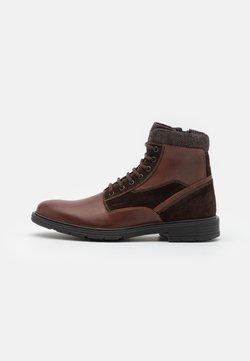 Geox - ALBERICK - Lace-up ankle boots - dark cognac/dark brown