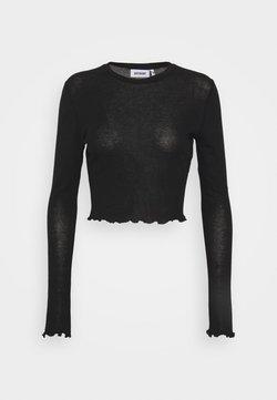 Weekday - SENA LONG SLEEVE - T-shirt à manches longues - black