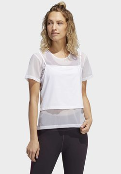adidas Performance - POWER TWO-IN-ONE - Camiseta estampada - white