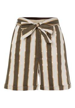 More & More - BREITE STREIFEN - Shorts - khaki