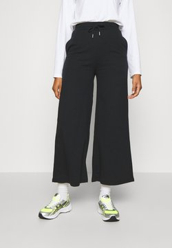 Even&Odd - Wide Leg Tracksuit Bottoms - Jogginghose - black