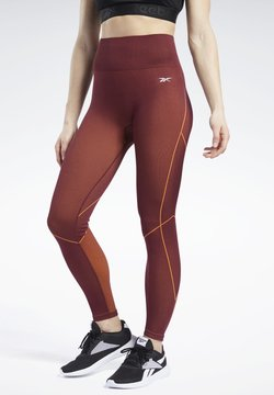 Reebok - MEET YOU THERE 7/8 TIGHTS - Tights - burgundy