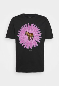 PS Paul Smith - MENS REG FIT FLOWER ZEBRA UNISEX - T-Shirt print - black
