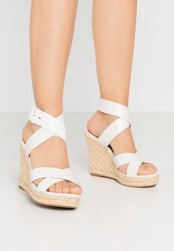 ONLY SHOES - ONLAMELIA WRAP  - Korolliset sandaalit - white