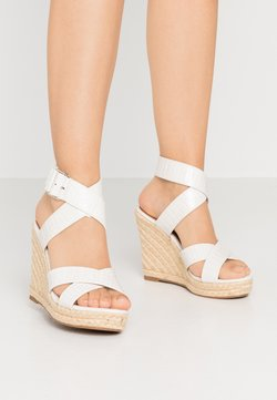 ONLY SHOES - ONLAMELIA WRAP  - Sandaletter - white