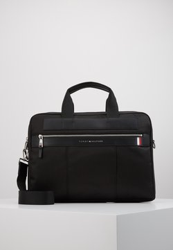Tommy Hilfiger - ELEVATED NYLON COMPUTER BAG - Portfölj / Datorväska - black