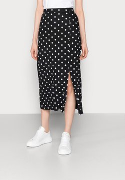 Even&Odd Tall - Falda de tubo - black/white