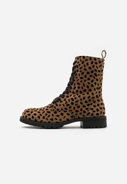 Fabienne Chapot - AMY HAIRY BOOT - Schnürstiefelette - camel/black