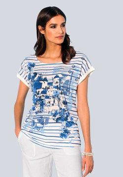 Alba Moda - Bluse - blau,weiß
