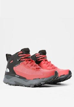 The North Face - W VECTIV EXPLORIS MID FUTURELIGHT - Hikingschuh - fiesta red/tnf black
