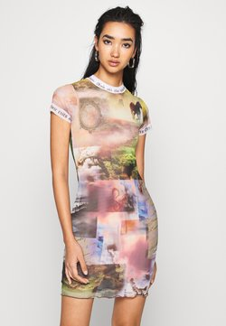 Jaded London - DRESS WITH CONTRAST FONT SCENIC PRINT - Shift dress - multi coloured