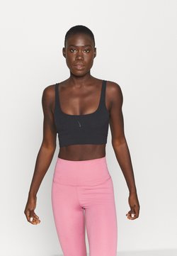 Nike Performance - THE YOGA LUXE CROP TANK - Top - black/dark smoke grey