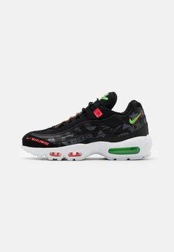 Nike Sportswear - AIR MAX 95 SE - Baskets basses - black/white/green strike/flash crimson