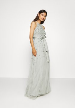 Maya Deluxe - EMBELLSIHED HALTER NECK MAXI DRESS  - Ballkleid - green