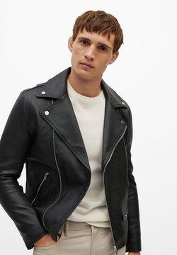 Mango - PERFECT - Leather jacket - schwarz