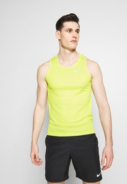 Nike Performance - DRY MILER TANK - Camiseta de deporte - limelight/heather/silver