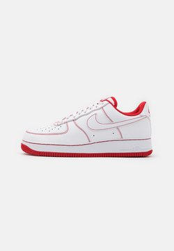 Nike Sportswear - AIR FORCE 1 '07 STITCH - Sneakers laag - white/university red