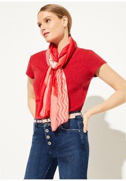 comma - Schal - milky red zic zac stripes