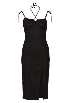 Glamorous - MIDI CAMI DRESS WITH TIE - Kjole - black