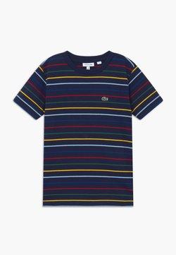 Lacoste - TEE TURTLE NECK - T-Shirt print - marine/multicolor