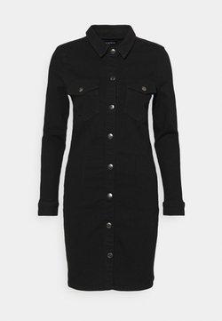 Pieces - PCSILIA DRESS - Jeanskleid - black