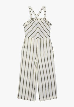 Scotch & Soda - WIDE LEG ALL IN ONE WITH RUFFLES IN DYED STRIPE - Combinaison - white/gold