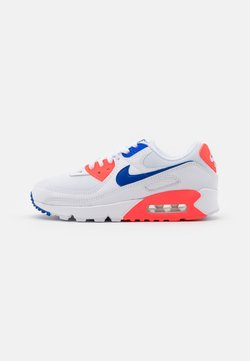 Nike Sportswear - AIR MAX 90 - Sneakersy niskie - white/racer blue/flash crimson
