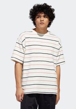 adidas Originals - VELOUR - T-Shirt print - oyster white / navy / scarlet