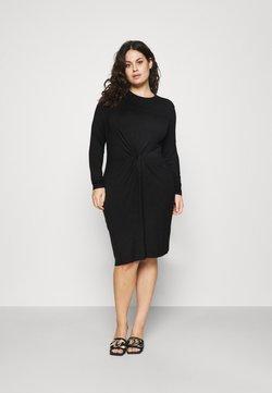 Pieces Curve - PCNEORA KNOT DRESS  - Jerseykjole - black