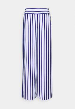 Lauren Ralph Lauren - MARGIT WIDE LEG PANT - Stoffhose - sapphire star/white