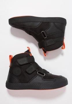 Palladium - PALLASTREET MID - Sneakers hoog - black/firecracker