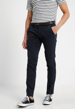 Lindbergh - CLASSIC WITH BELT - Chino - navy