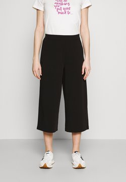 Object - OBJCECILIE NEW CULOTTE PANTS - Kangashousut - black