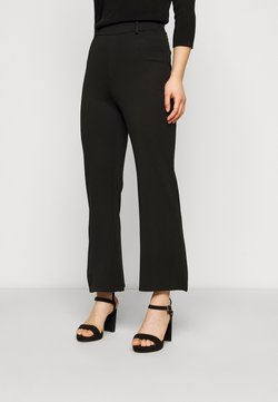 Even&Odd Petite - Flared PUNTO trousers - Legging - black
