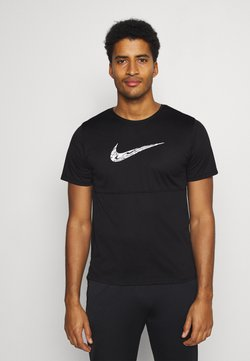 Nike Performance - BREATHE RUN  - Camiseta estampada - black/white