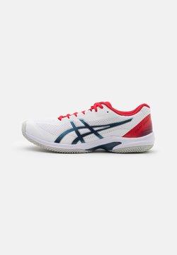 ASICS - COURT SPEED FF CLAY - Zapatillas de tenis para tierra batida - white/mako blue