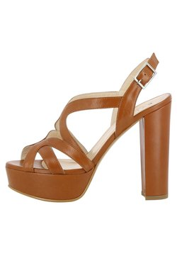 Evita - High Heel Sandalette - cognac