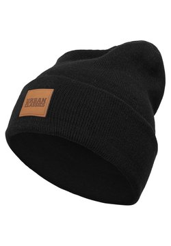 Urban Classics - LEATHERPATCH LONG - Pipo - black