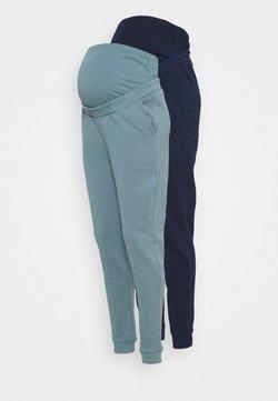 Anna Field MAMA - 2 PACK - Jogginghose - dark blue/teal