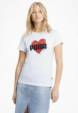 Puma - VALENTINE'S HEART  - T-shirt imprimé - puma white