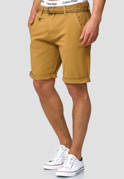 INDICODE JEANS - CASUAL FIT - Short - amber