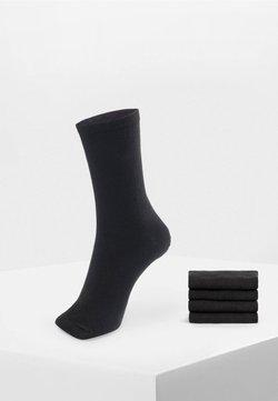 OYSHO - 5 PAIRS OF COTTON SOCKS - Calze - black