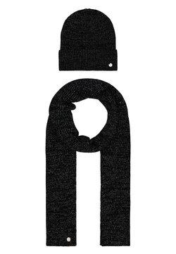 HUGO - XMAS SET HAT SCARF - Schal - black