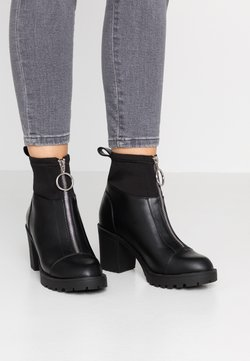 ONLY SHOES - ONLBARBARA HEELED SOCK BOOTIE  - Classic ankle boots - black