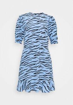 Marks & Spencer London - FRILL SKATER MINI - Freizeitkleid - blue