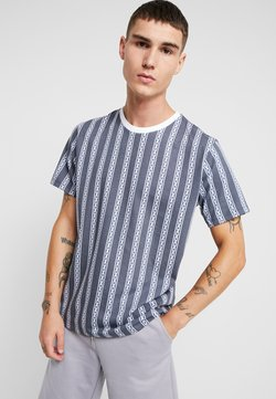Topman - CHAIN - Print T-shirt - blue