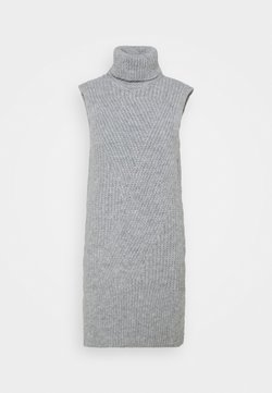 YAS - Vestido de punto - light grey melange