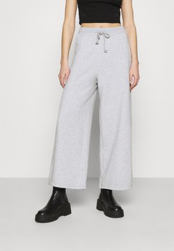 American Eagle - SUPER WIDE LEG - Jogginghose - heather gray