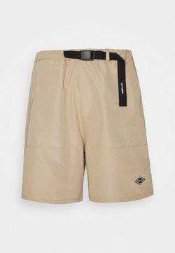 Replay - BUCKET BELT TONAL RUBBER PRINT - Shorts - beige