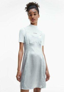 Calvin Klein Jeans - METALLIC SATIN SLIP - Cocktailkleid/festliches Kleid - silver